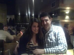 Con mi amiga Barei