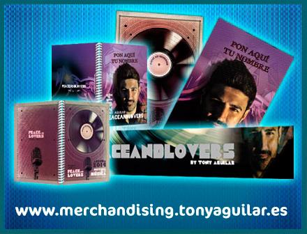 Merchandising exclusivo para Peaceandlovers - Tony Aguilar