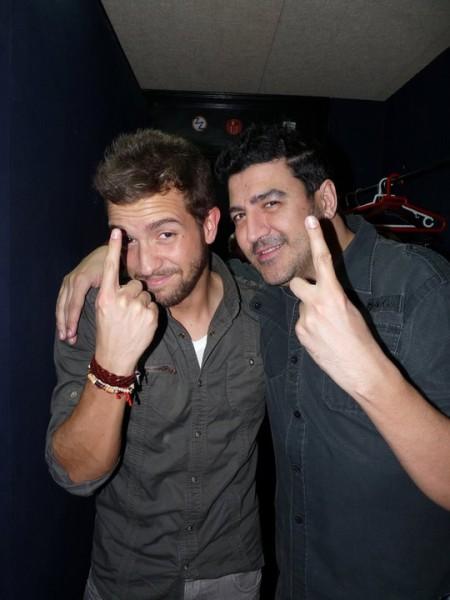 Con Pablo Alborán celebrando el nº1 en ventas