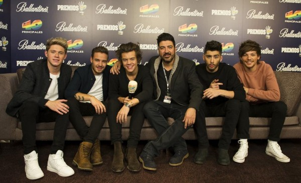 Con One Direction en rueda de prensa