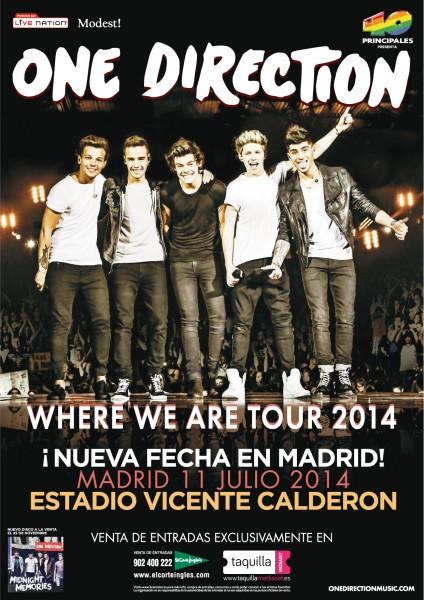 """Precios y centros de El Corte Inglés de venta de localidades para""""Where We Are Tour"""" - 1D"""