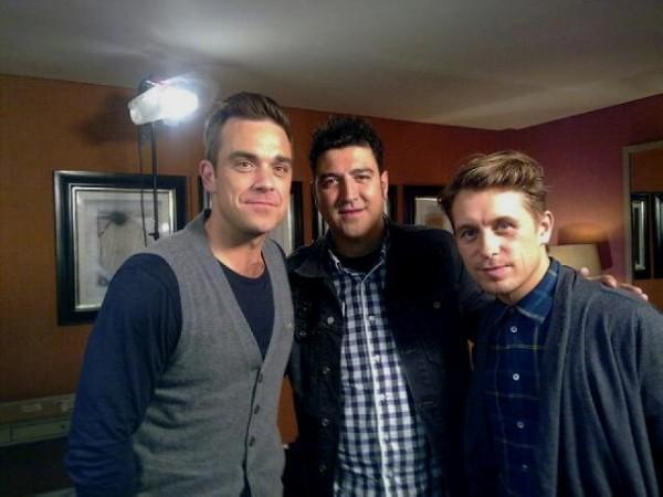 Mi foto con Robbie y Mark en Londres