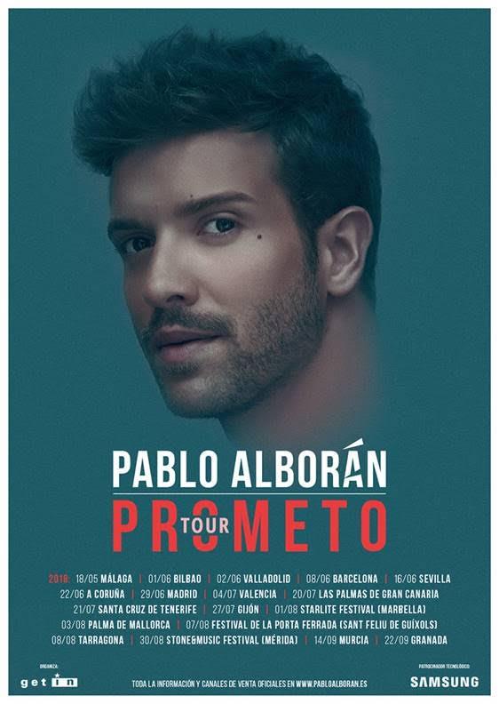 Tour Prometo 2018 Vuelve La Magia De Pablo Alborán